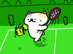 tennis cat!