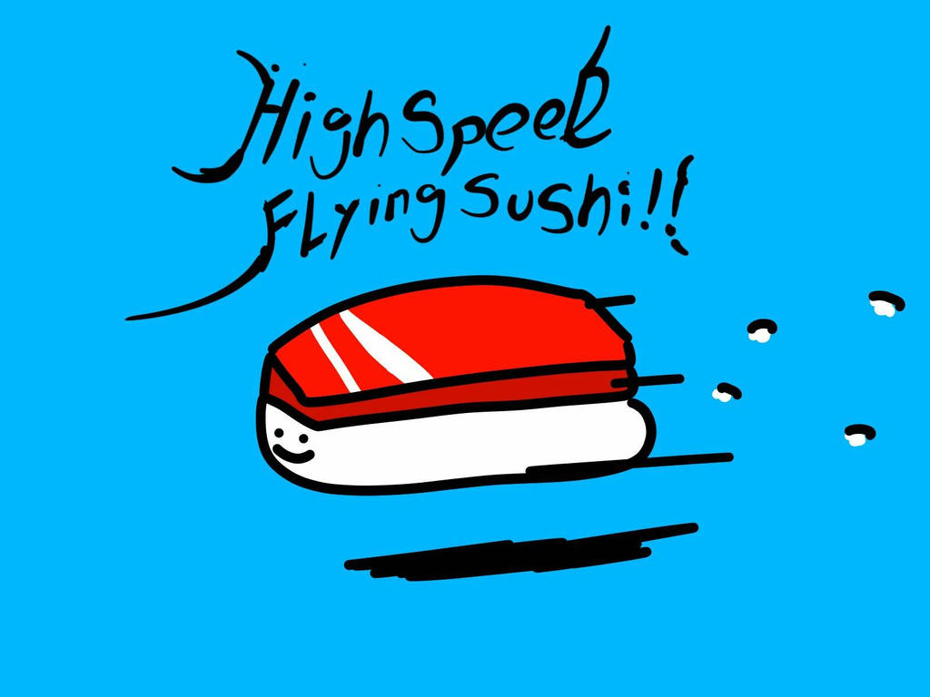 high speed flying sushi!! by kusaman