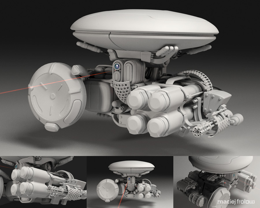 Heavy Equiped Combat Drone 1.0 by maciejfrolow