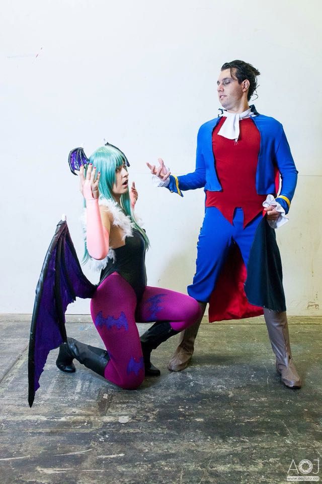 Morrigan and Demitri cosplay - I am your slave... by JudyHelsing