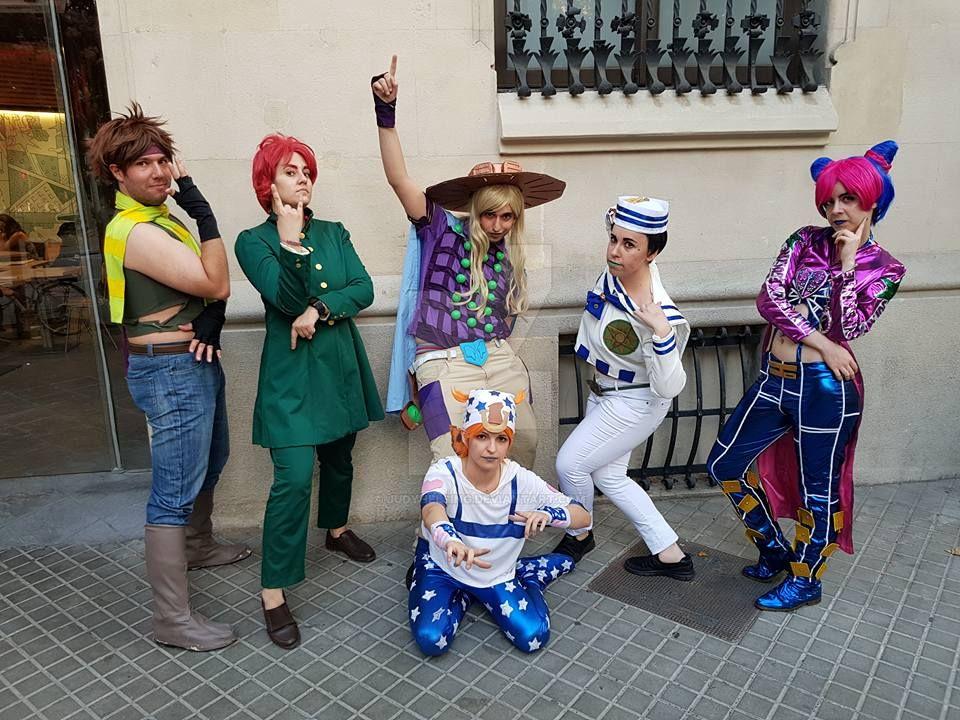 JoJo's Bizarre Adventure cosplay gang at Barcelona by JudyHelsing