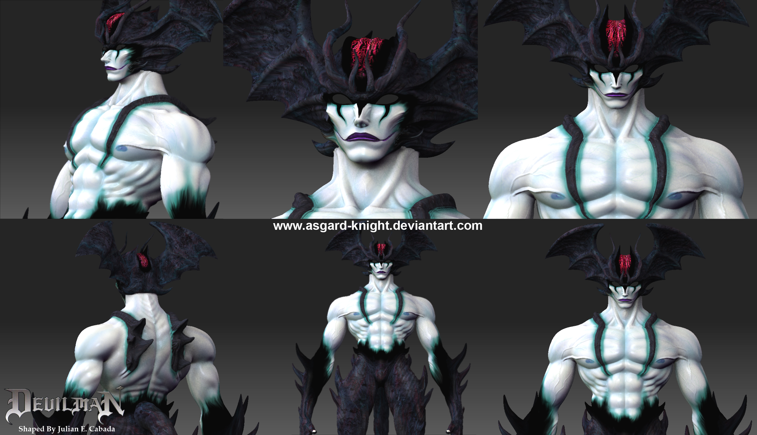 Anime Characters Zbrush : Neo devilman on zbrush by asgard knight deviantart