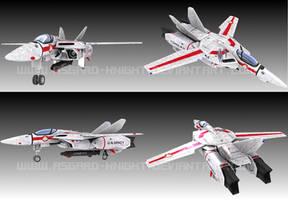VF-1J Battle Damage Version by asgard-knight