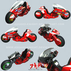 Kaneda's Bike 3D by asgard-knight