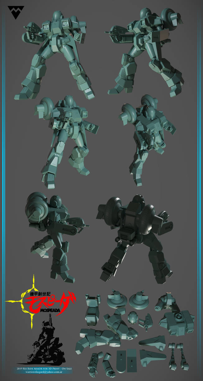 Mospeada Rei Ride Armor for 3D Print - On sale