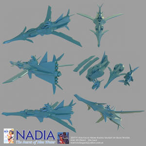Nadia - secret of blue water for 3d print