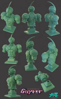 Guyver Bust for 3D print - on sale