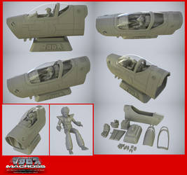 Macross Valkyrie cockpit for 3D Print - on sale by asgard-knight