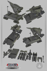 vf-1 launch booster vehicle  3D PRINT ON SALE by asgard-knight
