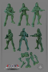 Zentraedi Soldier for 3D Print on sale