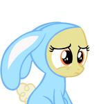 BASE Filly doesn't like bunny