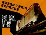 Combine razor train propagand