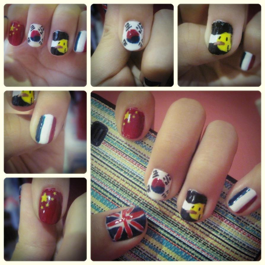 ~Hetalia Inspired nail Art~ by CrossxXxRose