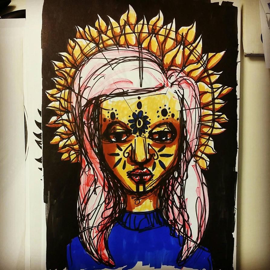 mandala portrait by mariquack