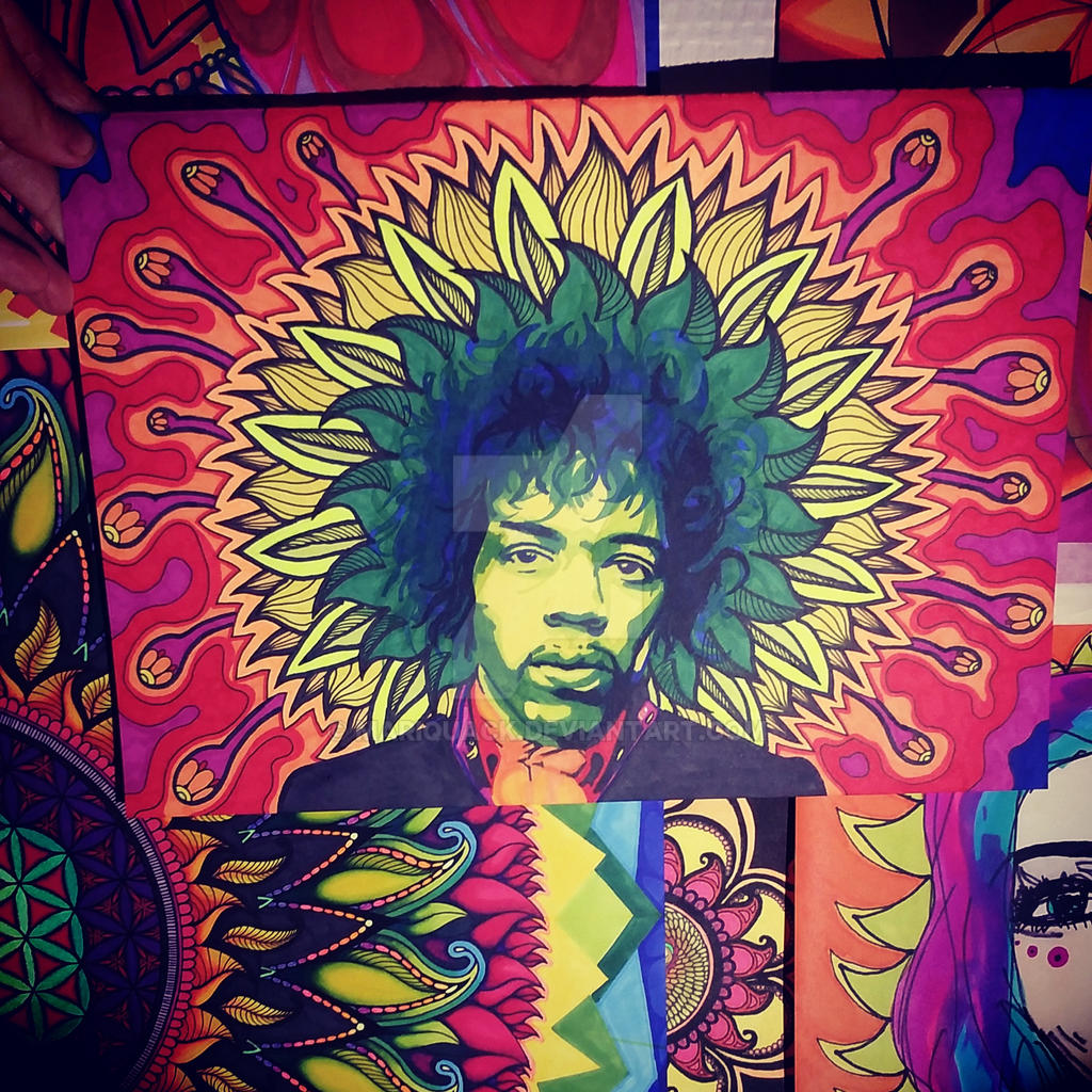 Trippy jimi by mariquack on deviantart - Jimi hendrix wallpaper psychedelic ...