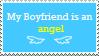 My Boyfriend is an Angel stamp by Devangelus