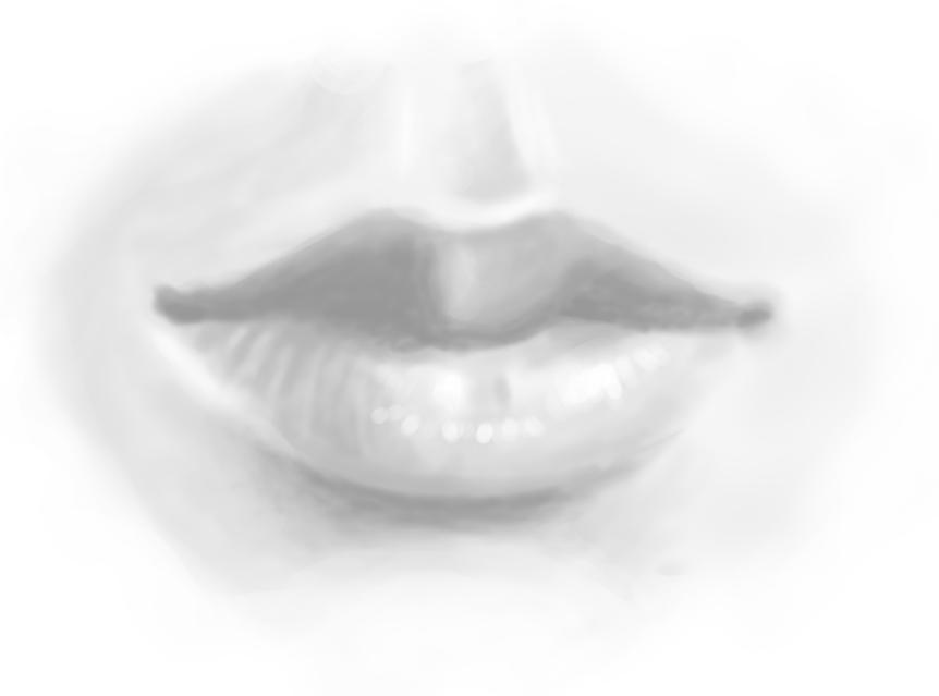 Tao's lips by FallenTwin