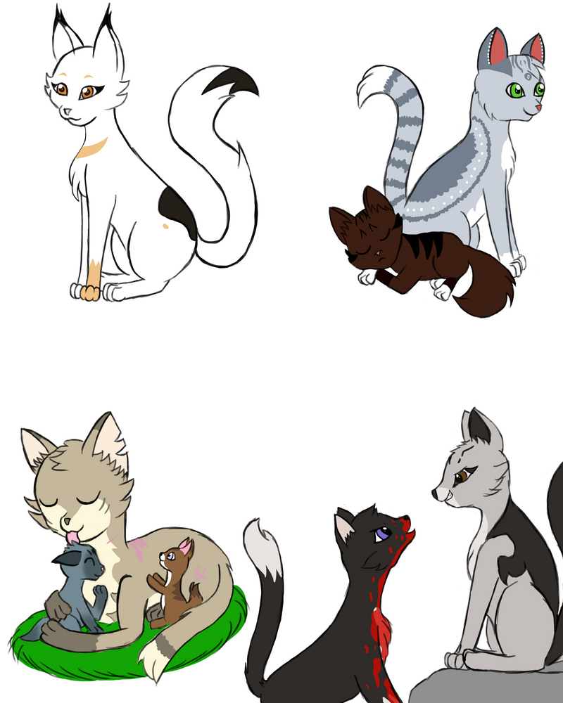 Cats of the moonfall requests by Glitter-Stitch