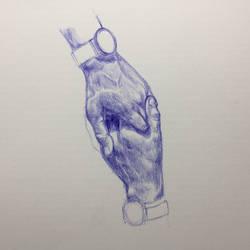 Ballpoint Pen - Hands 1 by Danao