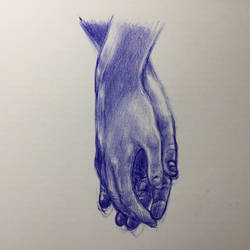 Ballpoint Pen - Hands 2 by Danao