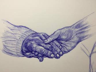 Ballpoint Pen - Hands 3 by Danao