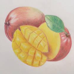Colored Pencils work - Mangos by Danao