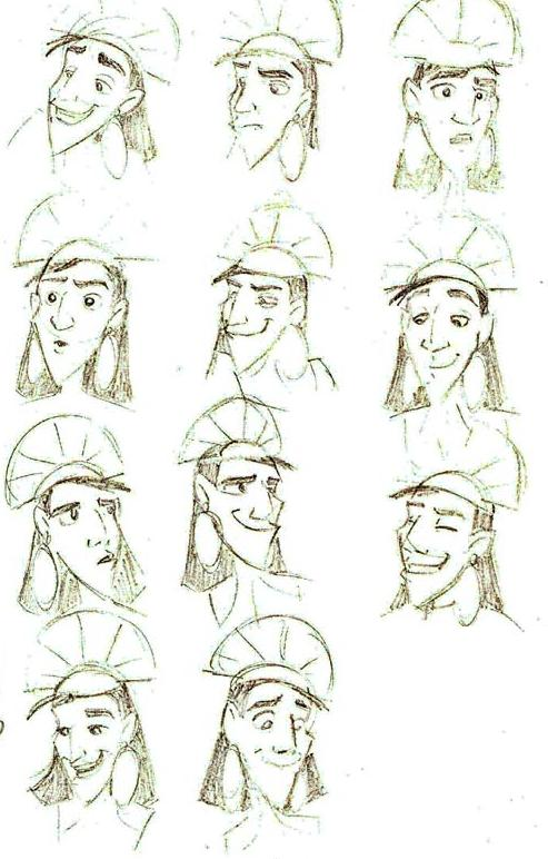 many faces of Kuzco by XtreamCrazy