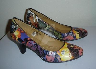 Wonder Woman Heels by iheart8bit