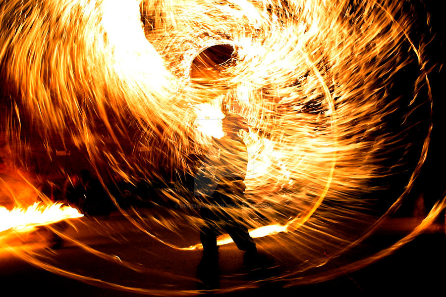 Yosh with fire whip by driventodesign