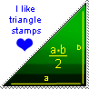 triangle stamp by digiNinA