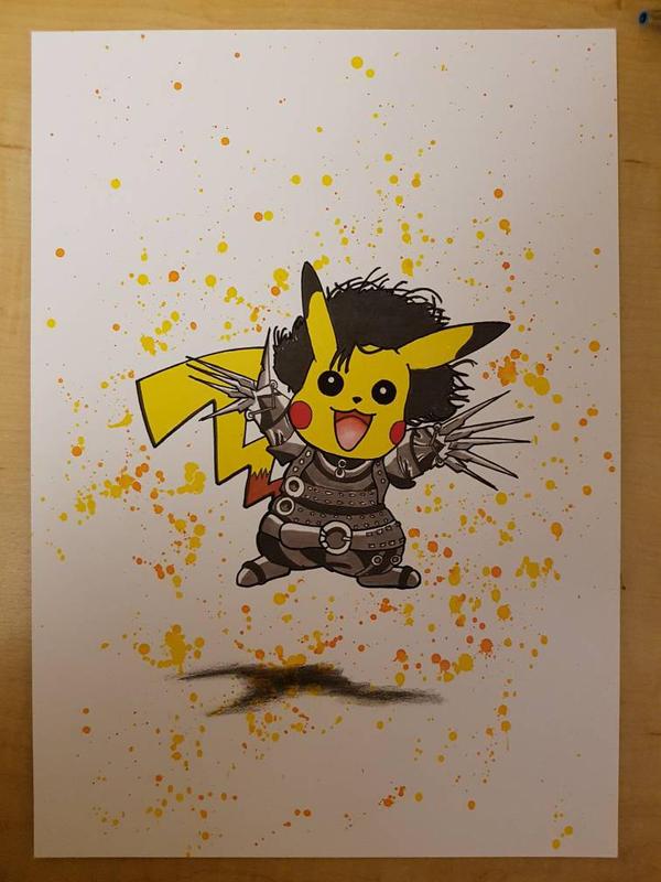 pikachu skissorhands!  by Chri8