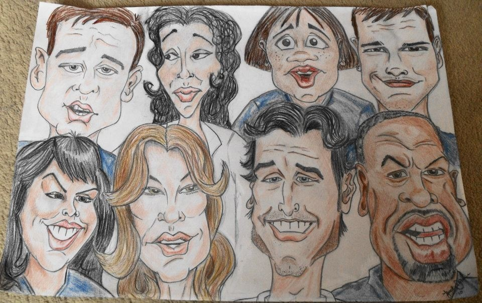 Drawing Lines Grey S Anatomy : Grey s anatomy caricature by pigginwhinger on deviantart
