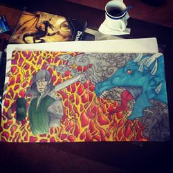 Dragon Mat by GraveRobberEqui