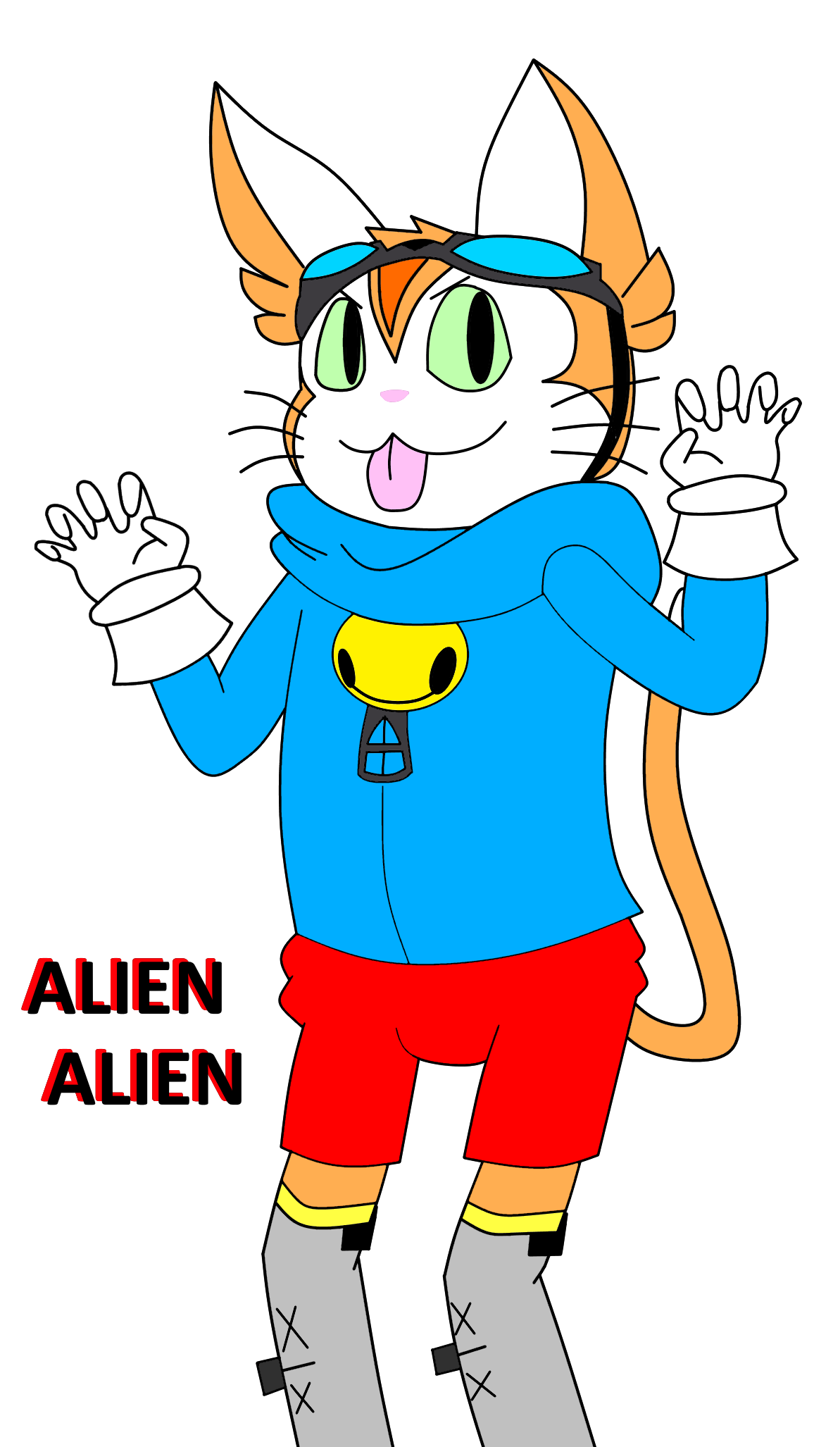 Blinx but he's doing that pose from Alien Alien by Wo0oooo0my