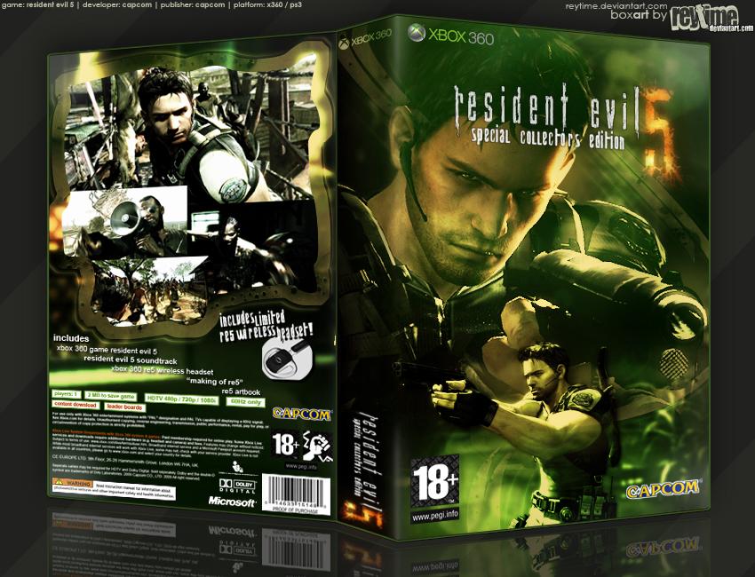 Resident Evil 5 SCE Boxart by reytime