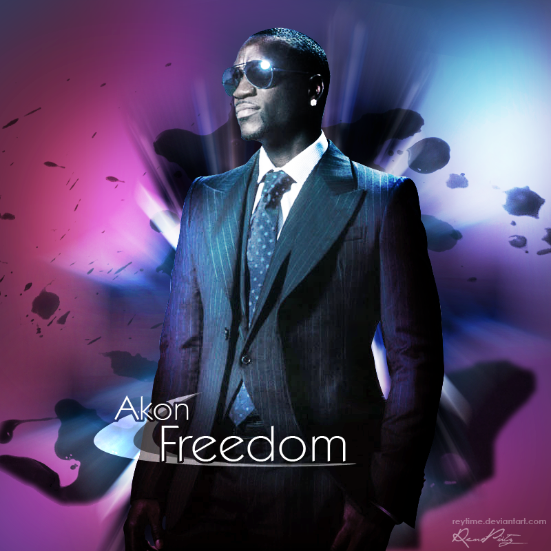 Quot freedom quot akon cd cover by reytime on deviantart