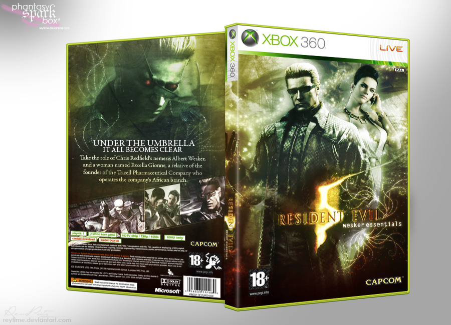 Resident Evil 5: WE - BoxArt by reytime