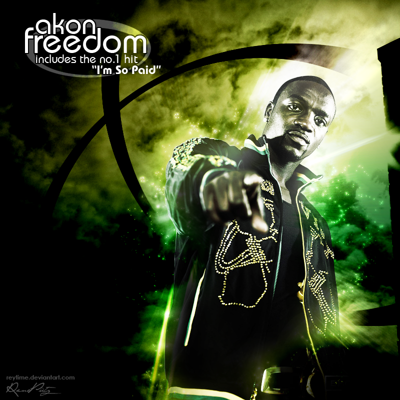 Freedom' - Akon CD Cover 2 by reytime on DeviantArt