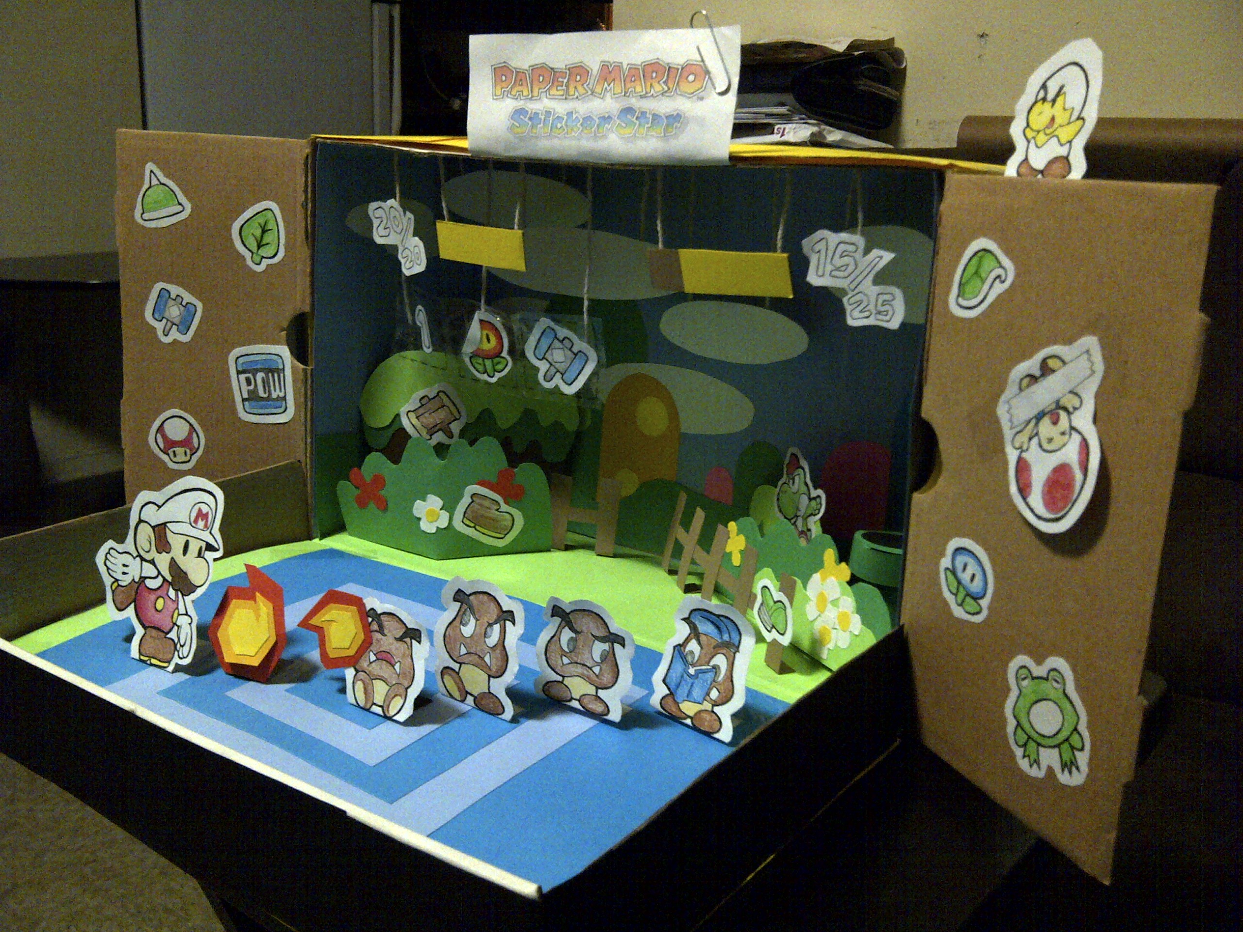my paper mario sticker star diorama entry right by adrift107