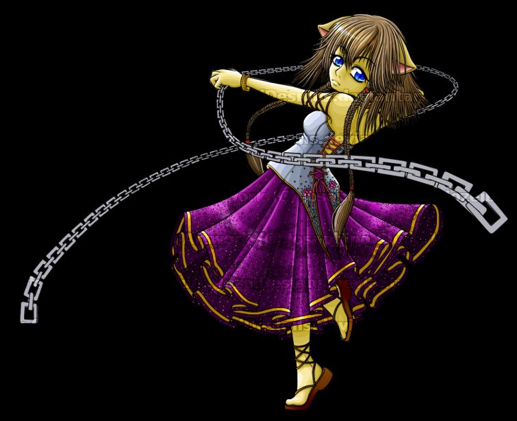 Saisha - The Feline Dancer by JozeiDesigns