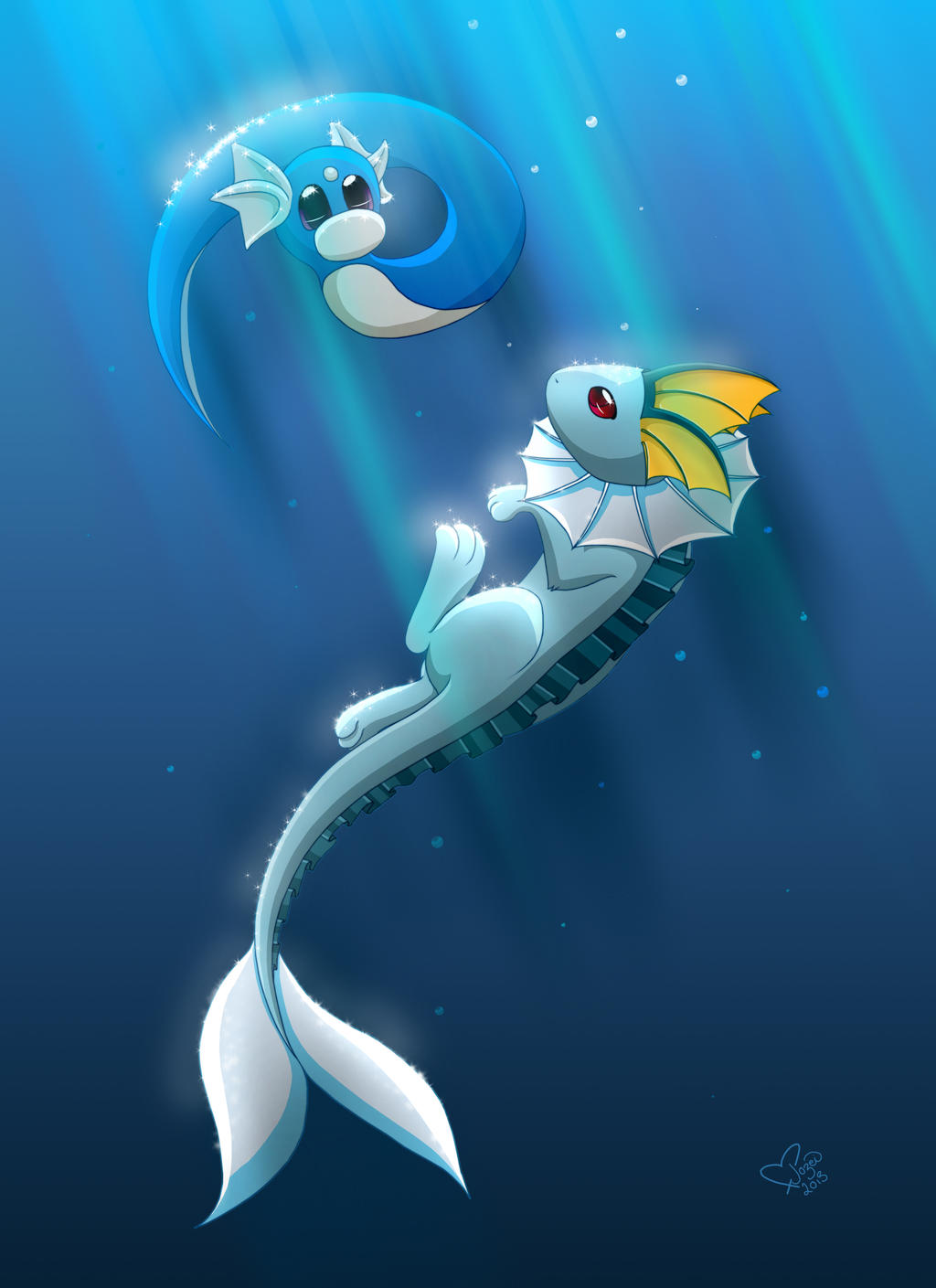 Aquatic Friendship by MelonFoxJozei