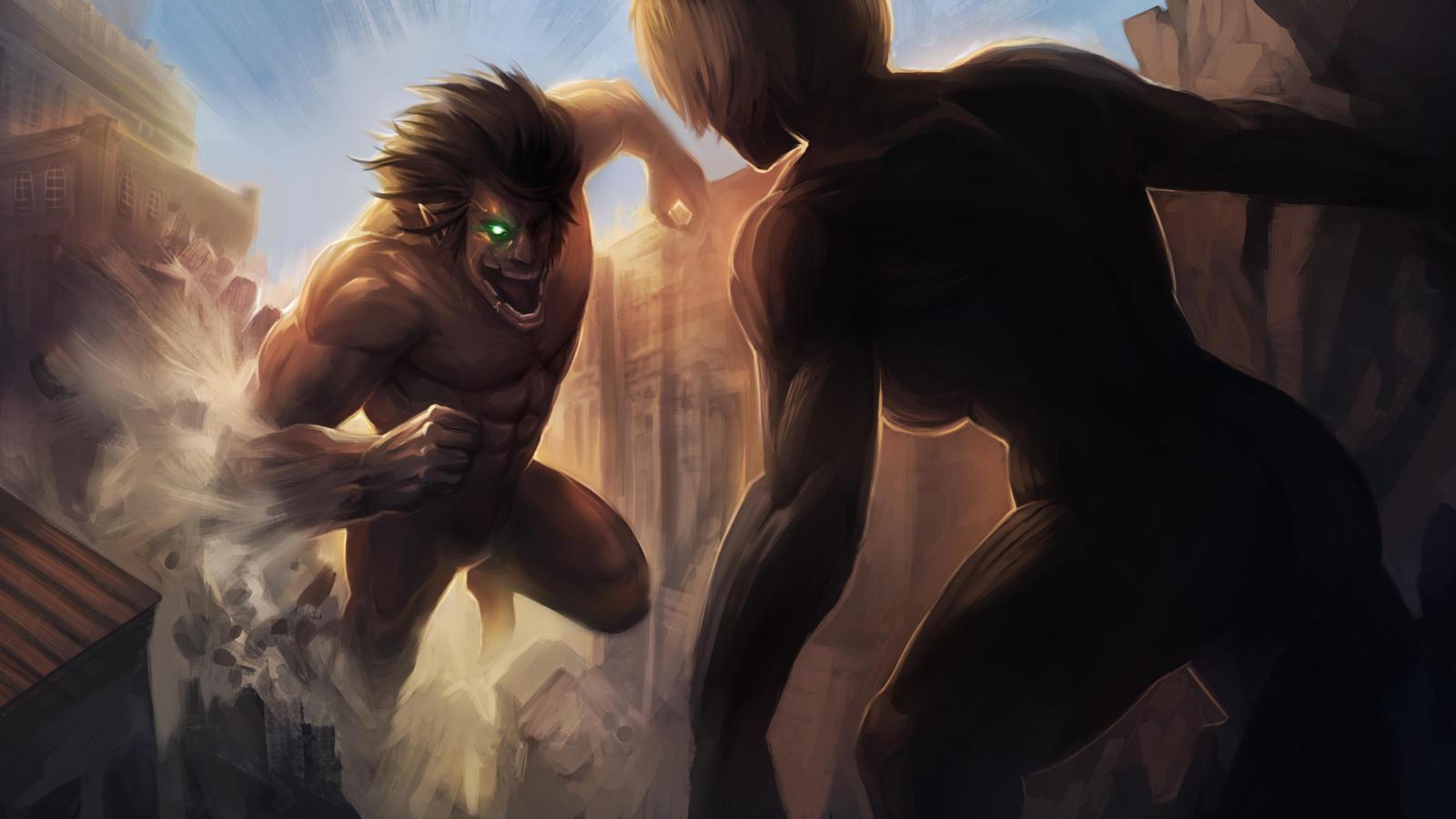 Attack on Titan - Eren vs Annie by MoshYong