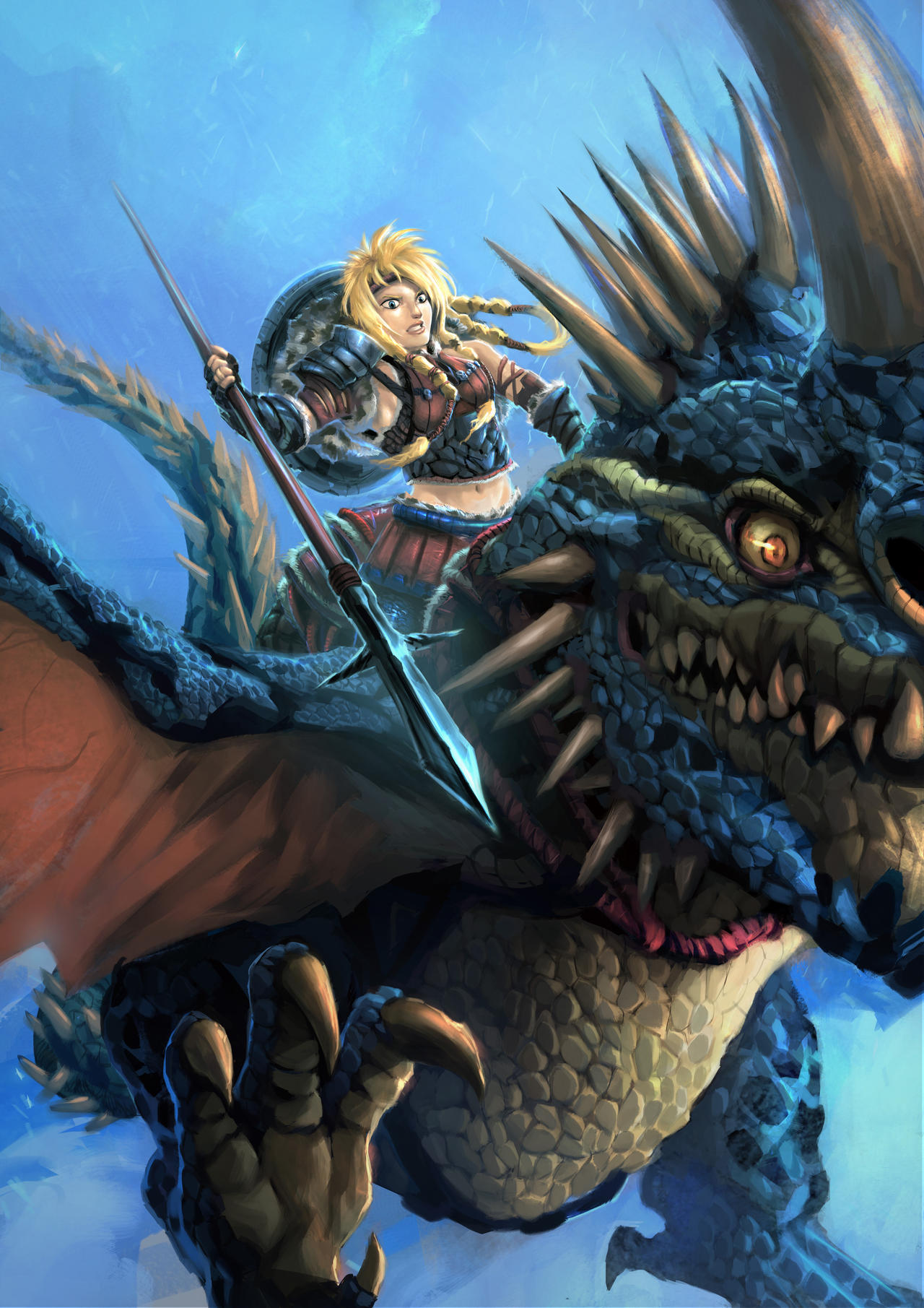 How To Train Your Dragon Valka and dragon Cloudjumper HD desktop