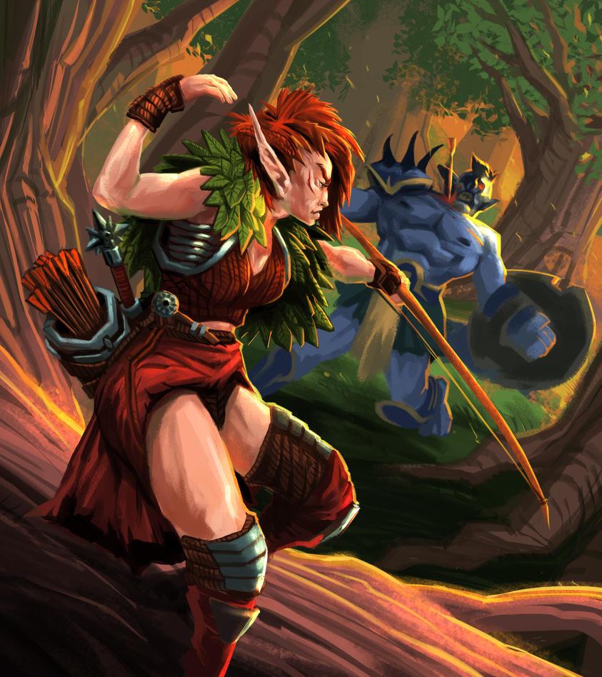 Elf Series : Archer by MoshYong