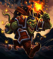 Orc Series : Kobold Kaboomist by MoshYong