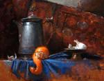 pitcher, orange, garlic
