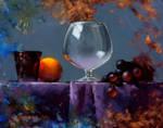 glass and grapes alla prima