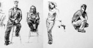 10-min clothed figure sketches by turningshadow