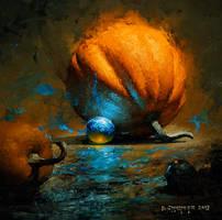 alien fruit dominating a pumpkin by turningshadow