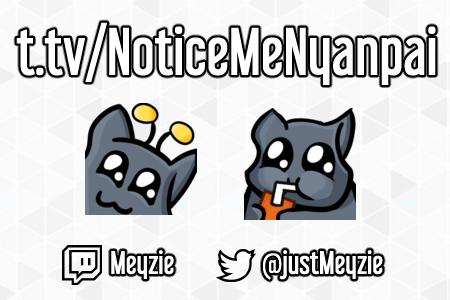 twitch tv Emotes for NoticeMeNyanpai by justMeyzie on DeviantArt